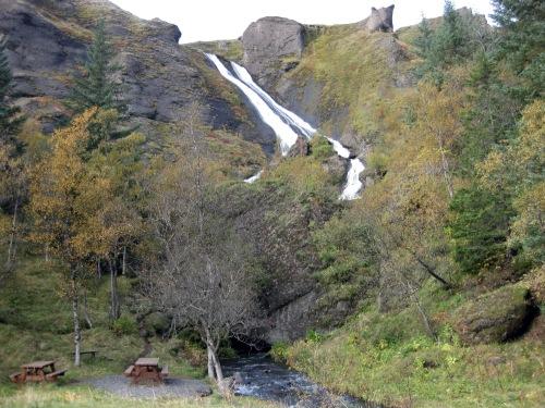 Systrafoss (Sister Waterfall) at Kirkjubæjarklaustur